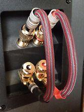 Set 4 Mogami Audiophile Bi Wire Speaker Jumper Cables Nakamichi Spade to Ba