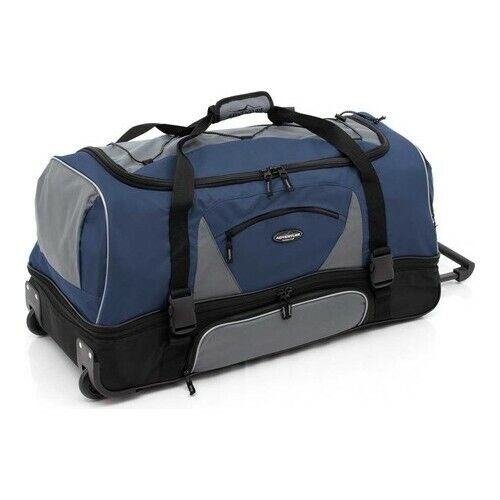 Travelers Club Adventure 36 2 Section Drop Bottom Rolling Duffel For Sale Online Ebay
