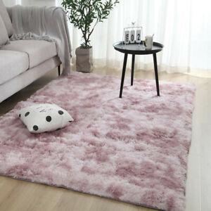 Flauschige Teppiche Hochflor Shaggy Langflor Uni Farben Wohnzimmer Pflegeleicht