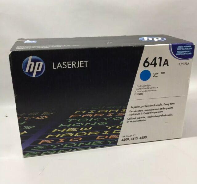 Genuine HP 641A Cyan Original LaserJet Toner Cartridge, C9721A NEW