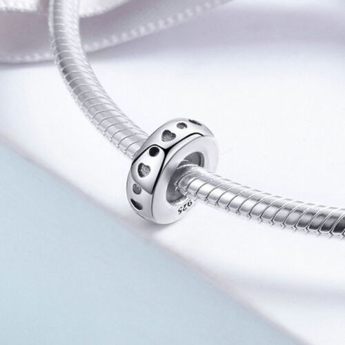 European Simply Women/'s Solid 925 Sterling Silver Round Bead CZ Pendant Charm