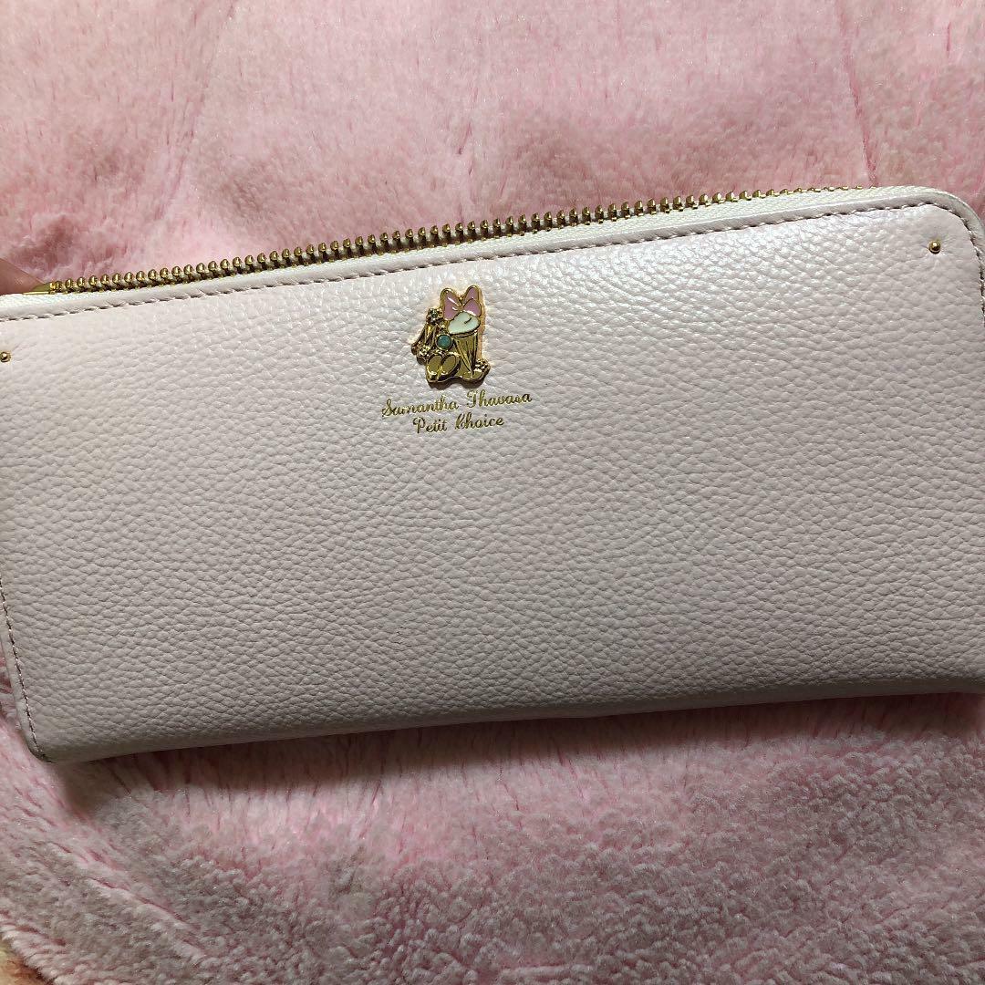 Disney Long Wallet Samantha Thavasa Collection Minnie and Daisy Round Zipper