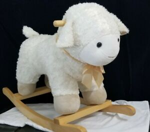 Pottery Barn Lamb Plush Nursery Rocker Ebay