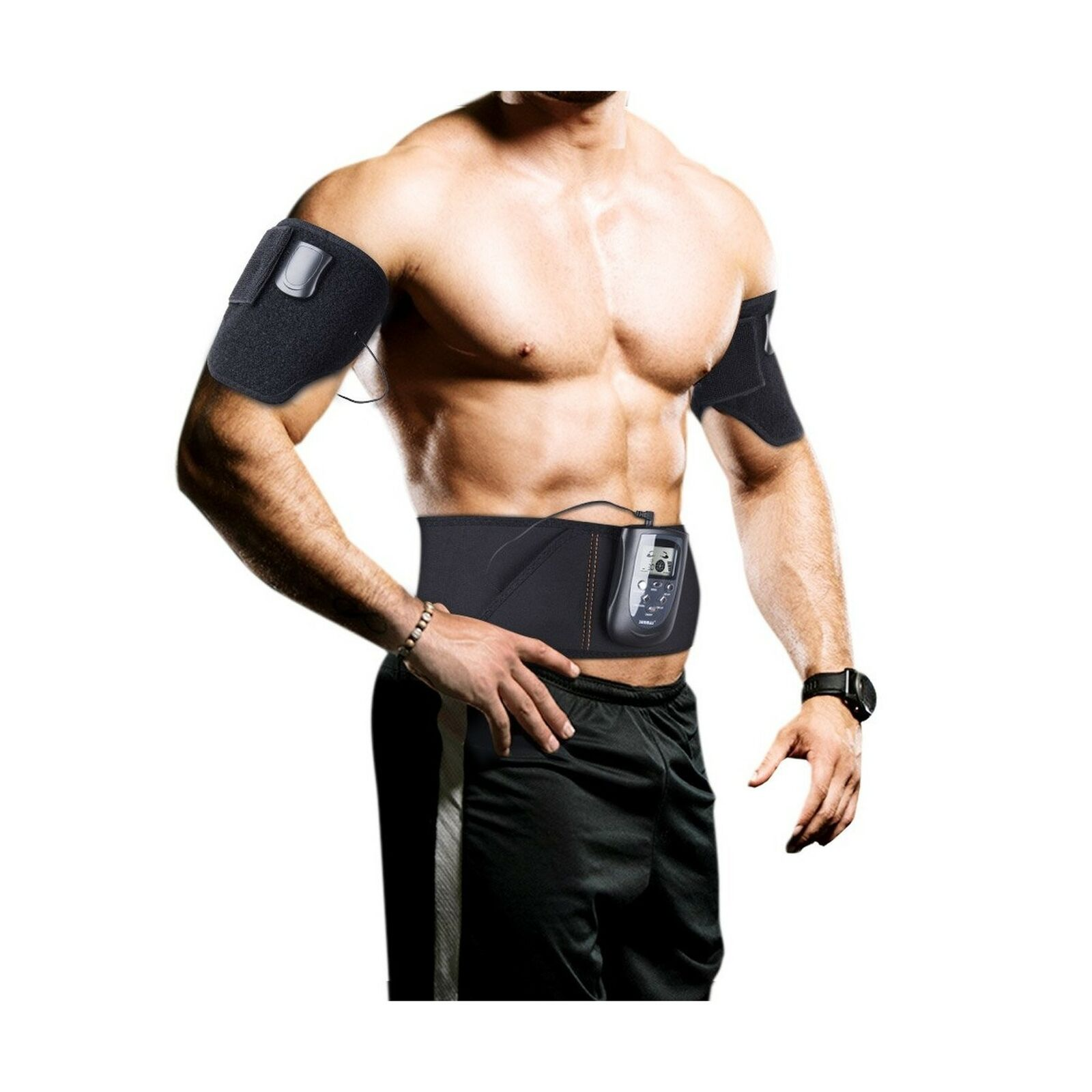SUNMAS Electric Ab Belt for donna and Men  Effective Muscle Stimulator and T...