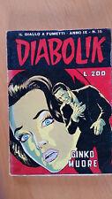 DIABOLIK anno IX n. 16  Ginko muore  ORIGINALE  Sodip 1970
