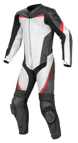 MEN RACING MOTORCYCLE COWHIDE LEATHER SUIT MOTORBIKE LEATHER SUIT 1//2-PIECE SUIT