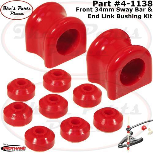 Prothane 4-1138 Front 34mm Sway Bar /& End Link Bushing Kit 94-05 Dodge Ram