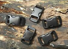 5 x 10MM 3/8 CONTOURED QUICK RELEASE CURVED PARACORD BUCKLES BUSHCRAFT SURVIVAL