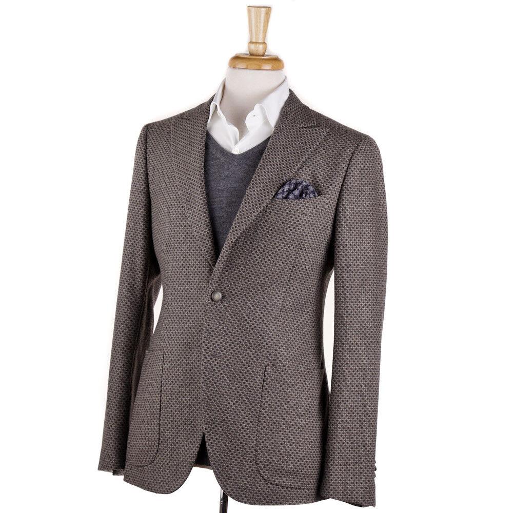 NWT 1495 BOGLIOLI grau and Tan Patterned Soft Wool Sport Coat 38 R (Eu 48)