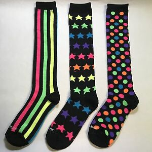 New-Women-039-s-Reebok-Knee-High-Mix-And-Match-Socks-3-Pairs-Shoe-Size-5-10