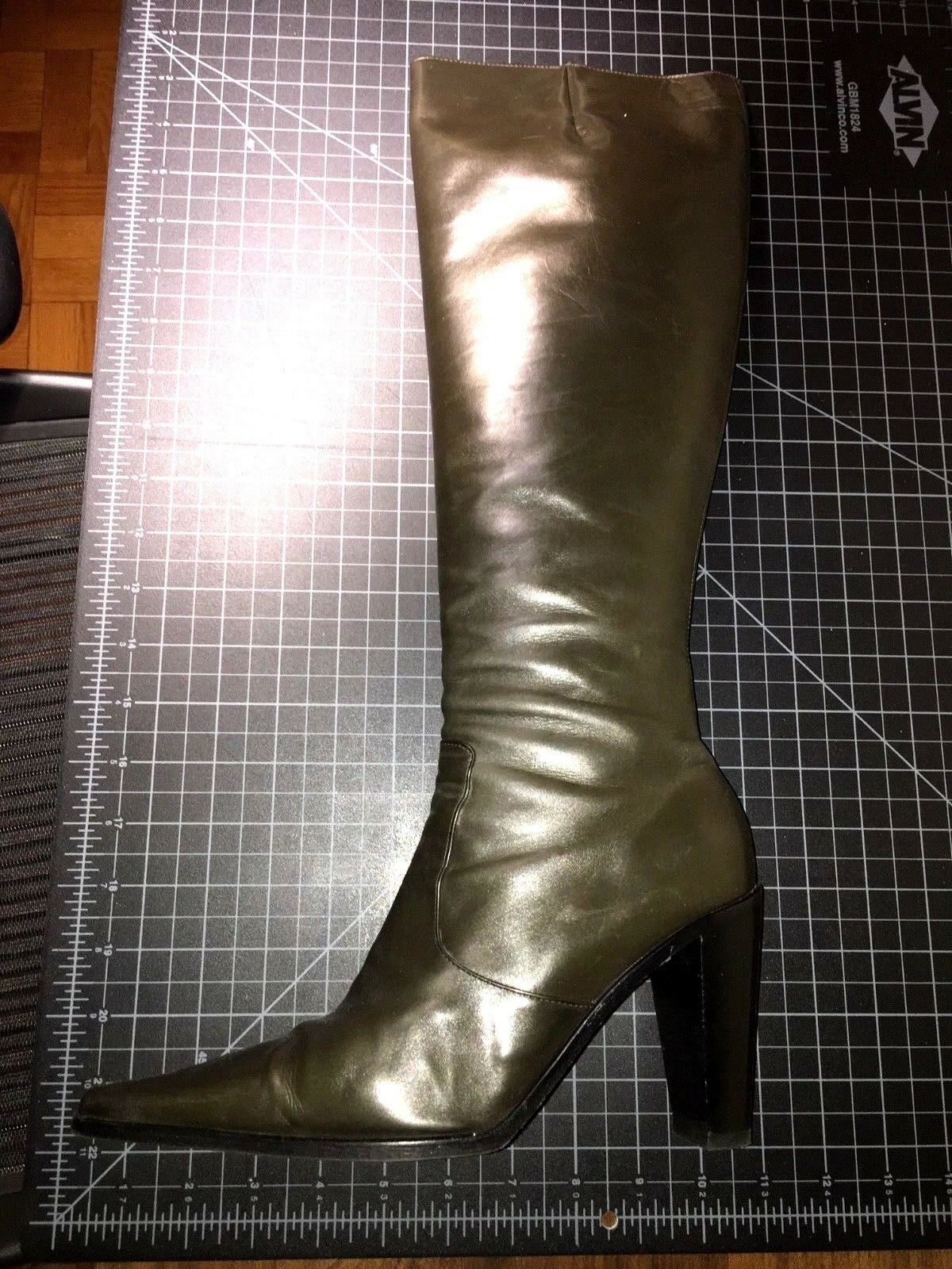SIGERSON MORRISON TALL SEXY Moss Grün BOOT / US Größe 8 8 Größe Beautiful CONDITION 89fe8f