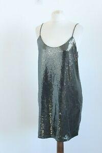 Zara Bnwt Gris Brillants Polyester Bracelet Soiree Disco Femme Robe Taille Ue L Ebay