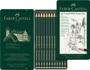 Faber-Castell-9000-Design-Set-Graphite-Pencils-in-Tin-12pk