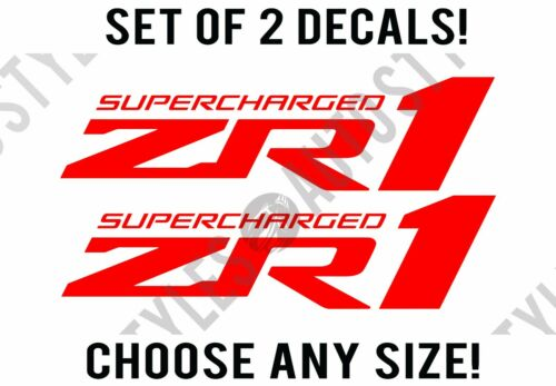 ZR1 Supercharged Corvette Racing Emblem Decal Vinyl Sticker PAIR Any Size