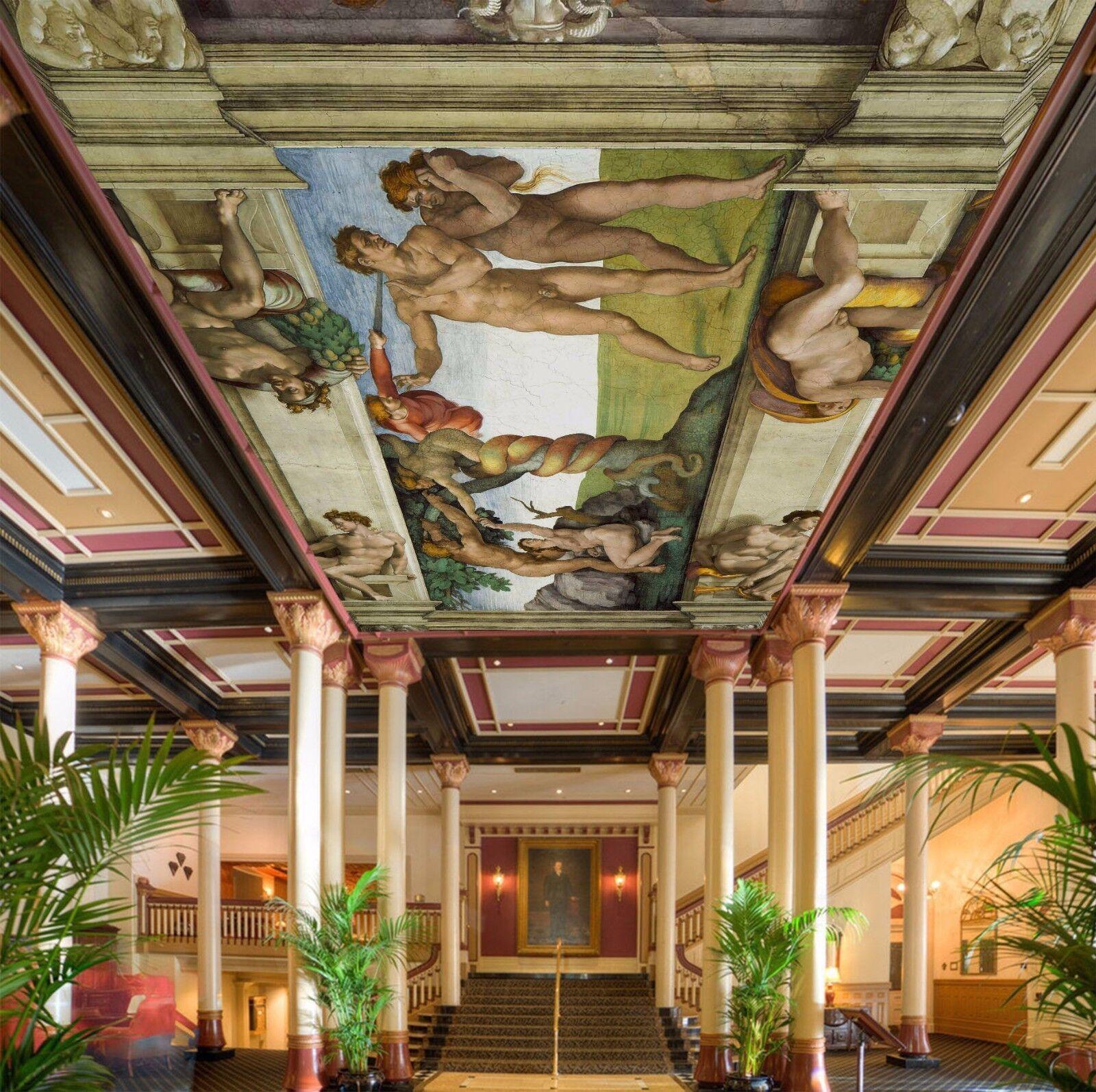 3D Michelangelo Malerei 45 Fototapeten Wandbild Fototapete BildTapete DE Kyra