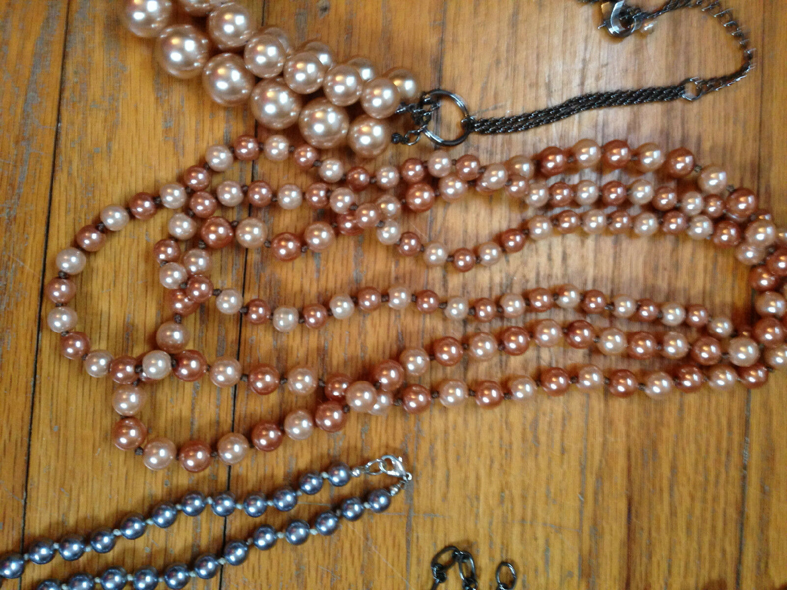 Costume Jewelry Lot Mixture of necklaces, and bra… - image 4