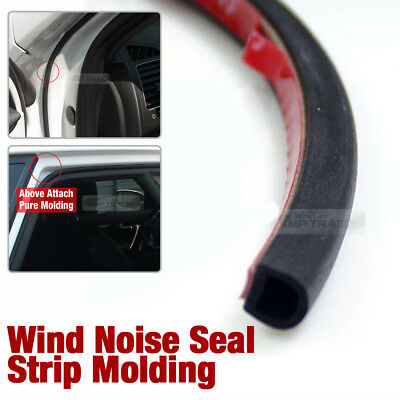 Car Door Wind Noise Seal D Shape Rubber Strip Molding 13Ft for SAAB Car