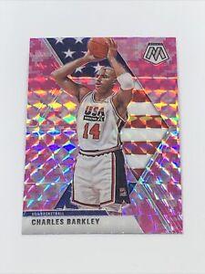 2019-20-Panini-Mosaic-Team-USA-Pink-Camo-Prizm-252-Charles-Barkley