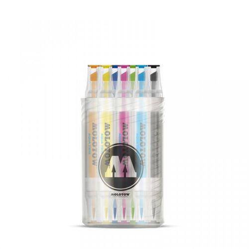 "MOLOTOW AQUA TWIN Marker 12er Complete Set /""Color/"""