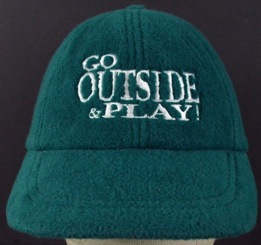 Green Go Outside and baseball play EMS Soft embroidered baseball and hat cap adjustable 8c8c90