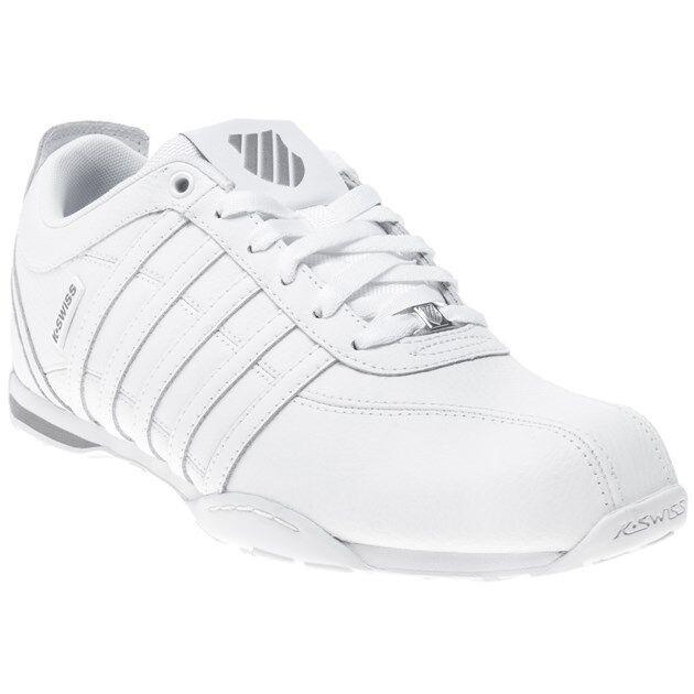 New MENS K-SWISS WHITE ARVEE 1.5 LEATHER Sneakers Mono