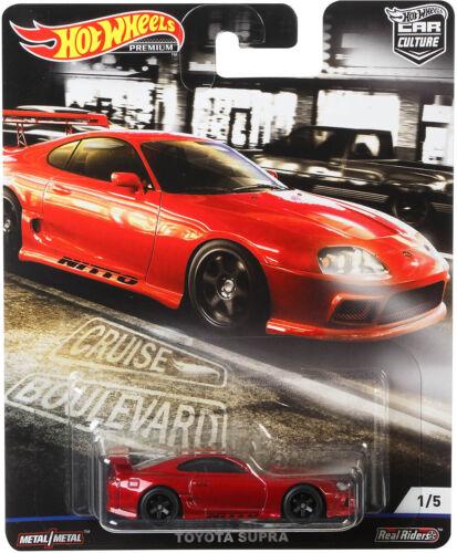 Toyota supra cruise Boulevard Car Culture 1:64 Hot Wheels fyn81 fpy86