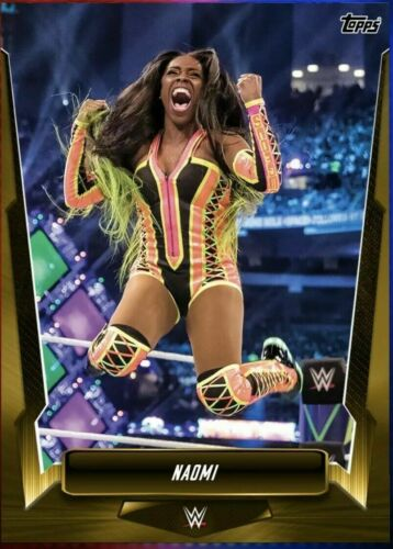 2019 GOLD RUSH BASE 50cc NAOMI Topps WWE SLAM DIGITAL Card