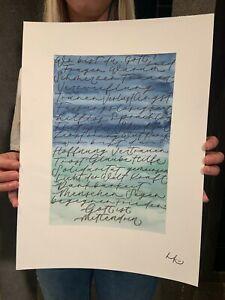 Hoffnungsschimmer21, Benefizaktion, Handlettering-Kunstwerk von Hints und Kunst