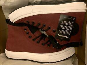 Details about Converse Leather CTAS WP Boots Hi Burgundy 162410C Chuck Taylor Men's Size 7 W/9