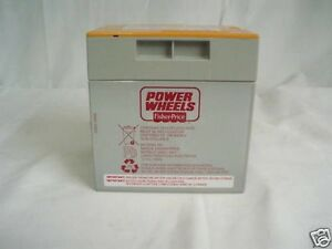 Power Wheels ORANGE Gray Jeep Hurricane 12V Battery Orange 9.6 AH Genuine