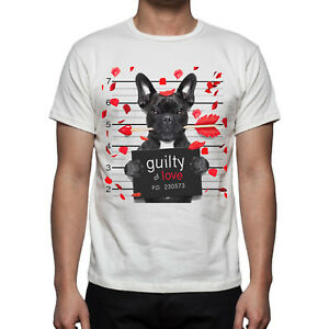Happiness Guilty Shirt Divertente Francese Regalo T Bulldog Uomo No AL54Rj