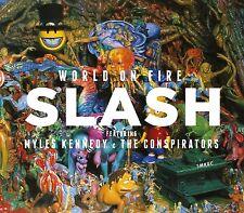 SLASH - WORLD ON FIRE LIMITED RED VINYL 2 VINYL LP NEU