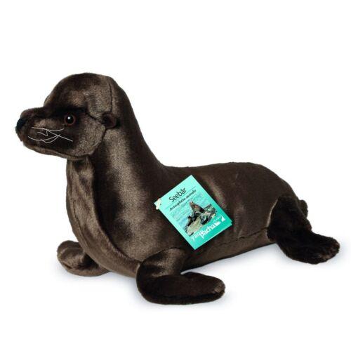 Teddy Hermann Fur Seal 32 cm 90143 ROBBE Seal Cuddly Plush Toy Stuffed Animal