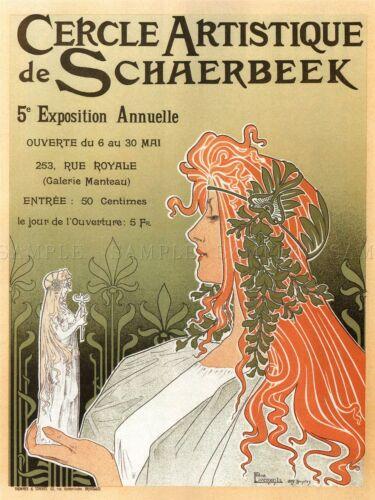 EXHIBITION ARTISTIC CLUB OF SCHAERBEEK ANNUAL SHOW BELGIUM AD POSTER 1698PYLV