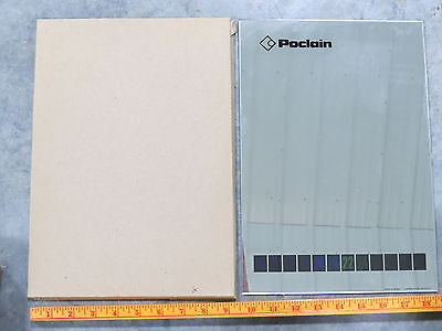 POCLAIN Construction Equipment Wall Mirror Thermometer made n France caterpillar