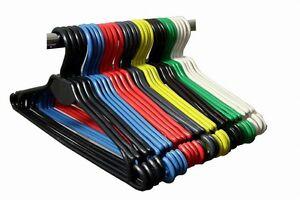 100-Stueck-Kleiderbuegel-Waeschebuegel-Buegel-Kunststoff-in-vielen-Farben