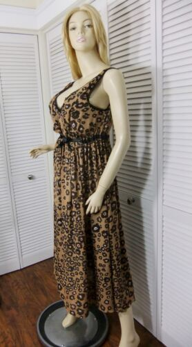NWT VIA del AMORE NIGHTGOWN S//M//L Brown//Black//Pink Floral Ballet 100/% SILK