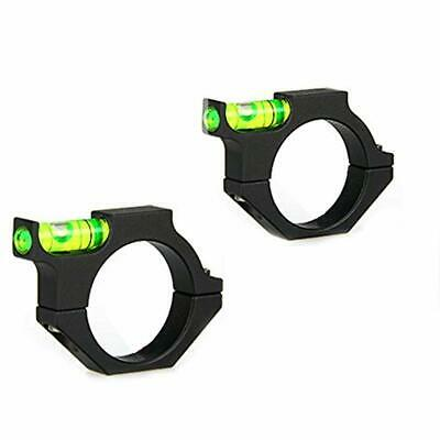 US 2Pcs 30mm Ring Spirit bubble Level mount Holder for Rifle Scope Laser Tube