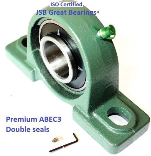 Premium UCP207-23 double seals ABEC3 Pillow block bearings 1-7//16 bore UCP207 23