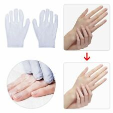 Bass Brushes 1 Pair White Moisturizing Gloves