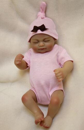 Handmade 10/'/' Full Body Silicone Vinyl Reborn Bebe Girl Doll Newborn Lifelike A+