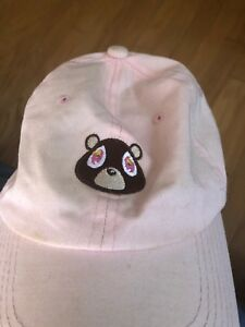 Fashion Kanye West Ye Dropout Bear Dad Hat Embroidered Drake ... 7130e4fd738