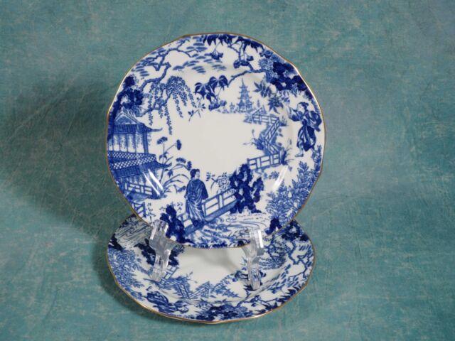 Royal Crown Derby Mikado Blue Bread&Butter Dessert Plate Blue Bone china