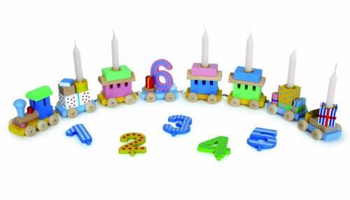 Goki GK 106 Geburtstagszug Lok mit Anhänger incl.Kerzen & Zusatzzahlen 7-10
