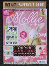 Mollie Makes Free Papercut Book Crochet Bunny Ideas April 2016 FREE SHIPPING 63