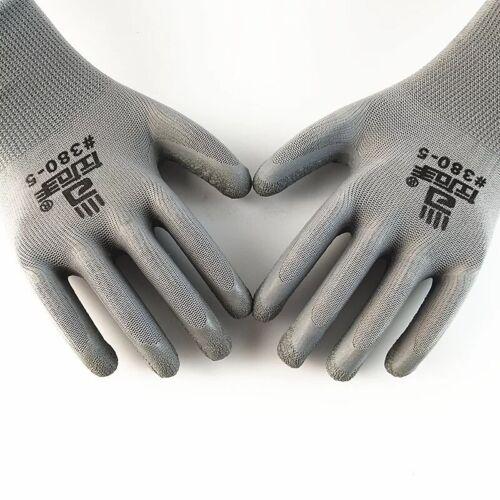 Work Safety Polyurethane Coated Nylon Work Gloves 380-5 1// 6 //12 Pairs