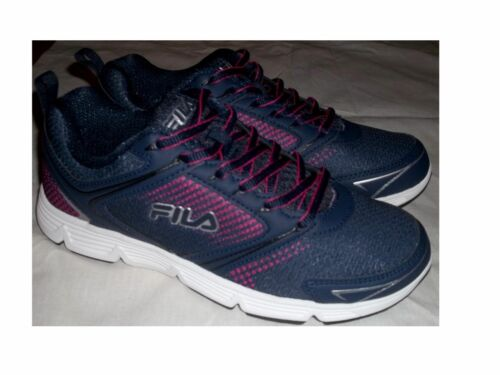 a734d4eb5c22 1 of 3FREE Shipping NIB Women s FILA Vector Running Athletic Shoes Navy    Pink FREE SHIPPING