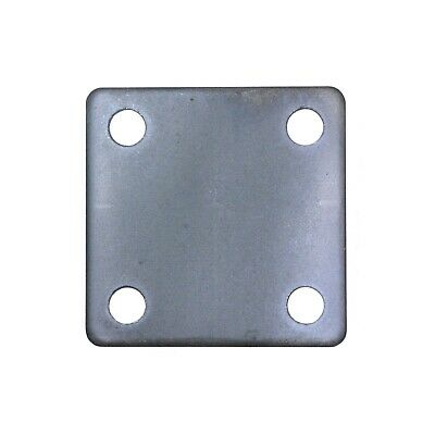 "4 STEEL BASE PLATES 1//4/"" x 6/"" x 6/"" WITH 4 HOLES  6x6 6""x6""  9//16 Holes"