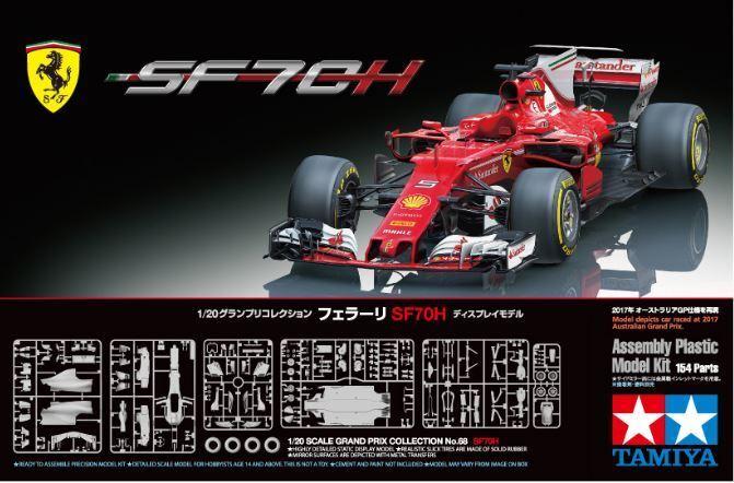 Tamiya 1 20 Ferrari SF70H F1