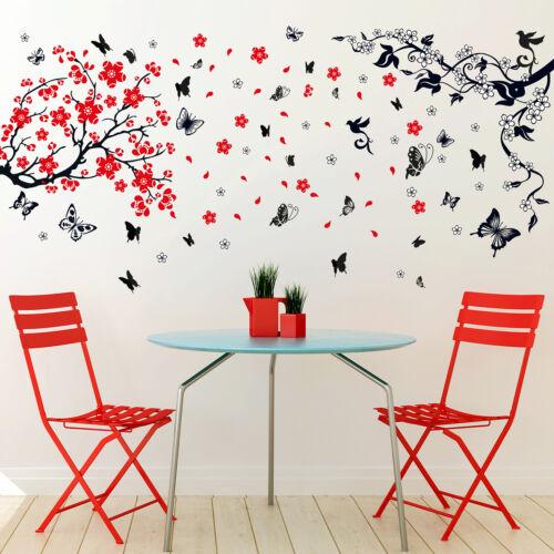 Walplus Blossom Flower with Butterfly Wall Sticker Art Decoration Decal DIY